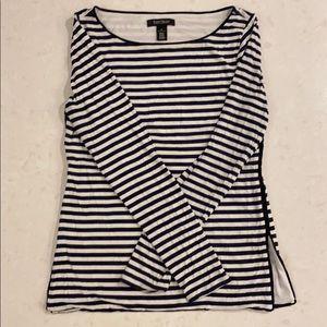 WHBM stripes long sleeve shirt